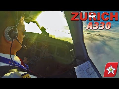 Piloting The AIRBUS A330 Into Zurich