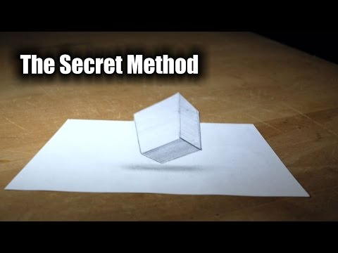 How To Draw In 3D - Secret Drawing Trick Revealed