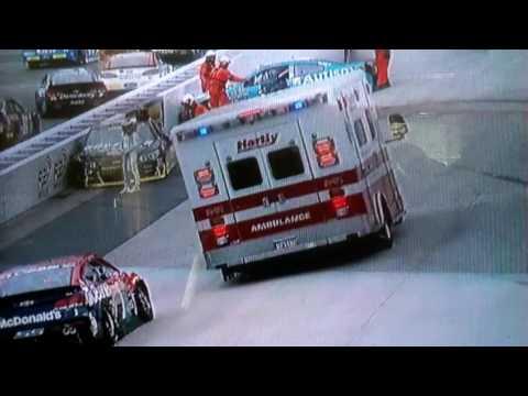 NASCAR TONY STEWART,DANICA PATRICK CRASH DOVER 5-13-16
