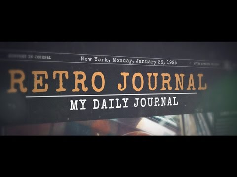 History in Journal | After Effects template