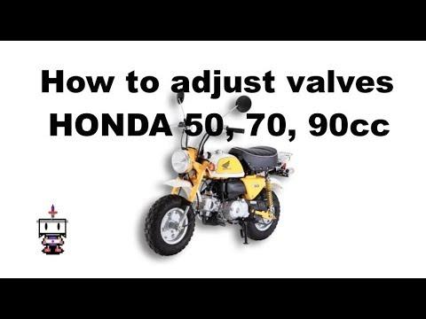Honda C50, 70, 90, 100cc/Super Cub Valve Adjustment