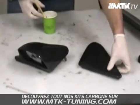 Tuto Comment Recouvrir Une Piece Automobile De Veritables Fibres De Carbone Youtube