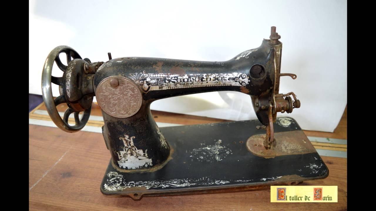 Restauración de antigua máquina de coser Singer - YouTube