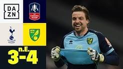 Elfmeterschreck Tim Krul lässt Kanarienvögel jubeln: Tottenham - Norwich 3:4 i.E. | FA Cup | DAZN