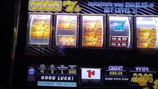 Big Win! Gold Bar 7's slot machine at Empire City casino