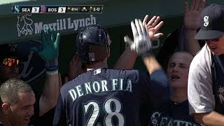 SEA@BOS: Wild pitch allows Denorfia to come home