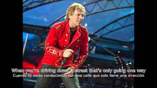 Bon Jovi - Saturday Night Gave Me Sunday Morning (Subtítulos Inglés - Español)