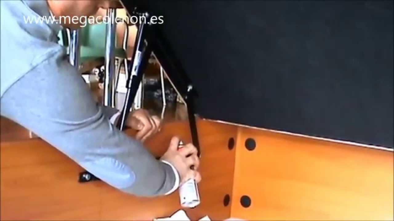 como eliminar ruido en canape abatible madera megacolchon   YouTube