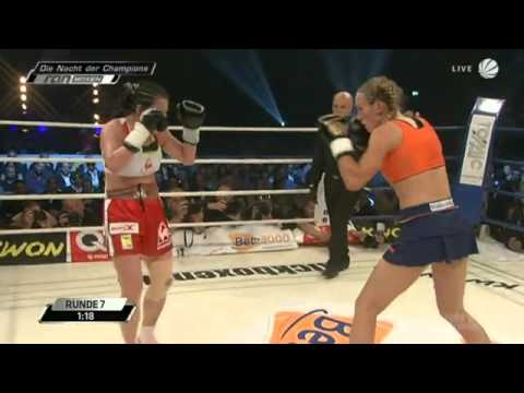 Christine Theiss vs. Su Jeong Lim der Kampf in voller Lnge - Boxen