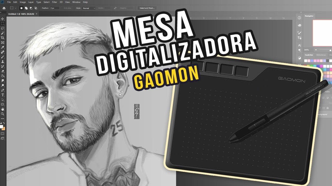 MESA DIGITALIZADORA GAOMON S620 - UNBOXING & REVIEW [Acessível em: LSE]