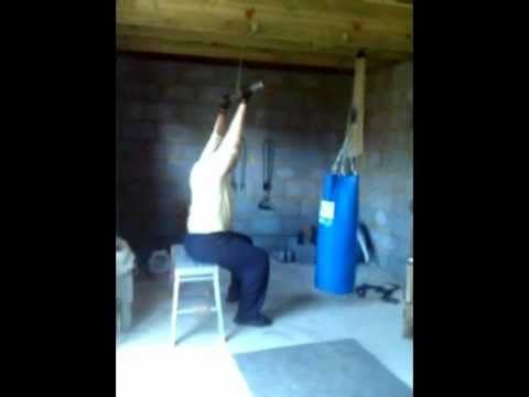 homemade lat pull down that is working very well youtube