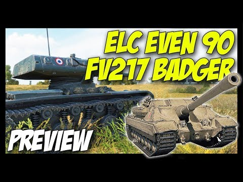 ► ELC EVEN 90 & FV217 Badger Details Preview - World of Tanks 9.21 Update thumbnail