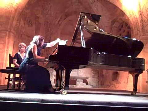 Emile Naoumoff's own Valse Feroce for piano four hands played with Rebecca Chaillot
