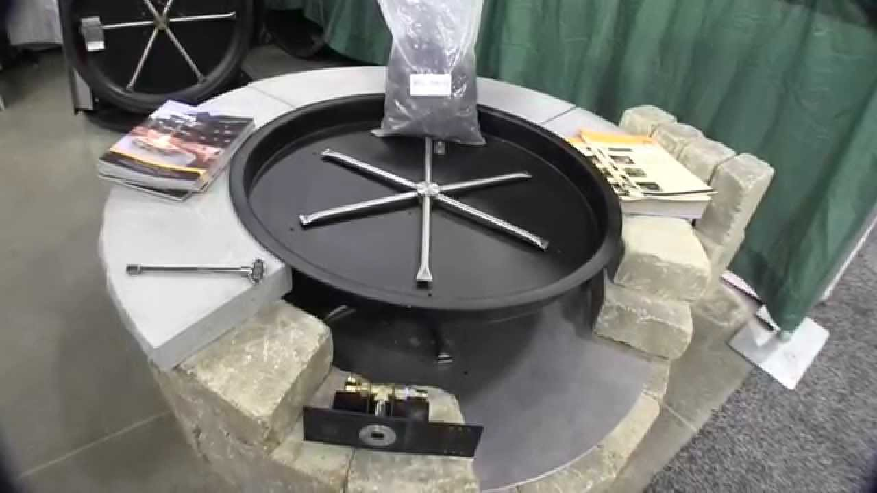 Firegearoutdoors fire ring propane conversion kit by john young of the weekend handyman
