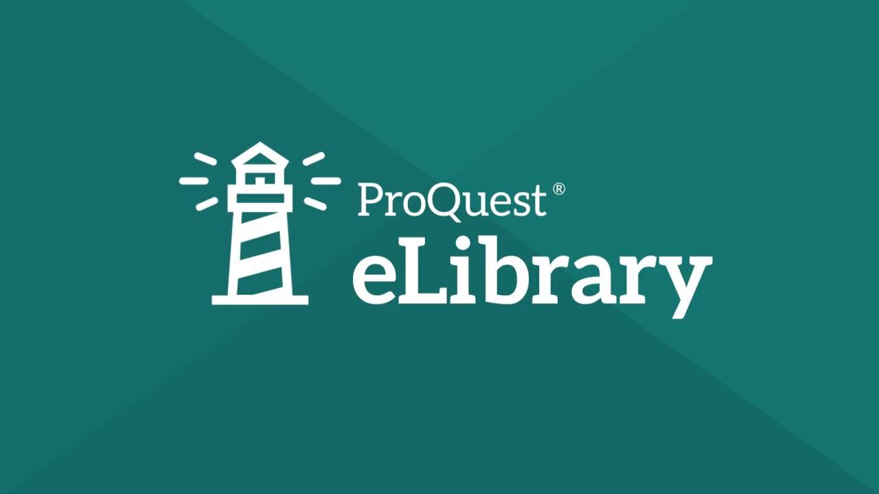 Image result for proquest elibrary logo