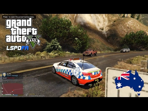 GTA V - LSPDFR Australia - Trevor Phillips Caught Again! - NSW Highway Patrol VF Commodore