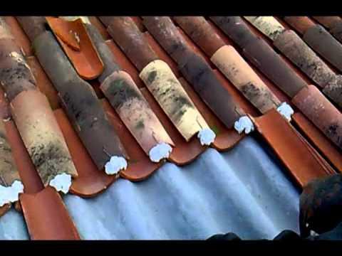 Cubierta De Teja Y Fibrocemento Wmv Youtube
