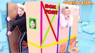 LAST to LEAVE the box FORT WINS $10,000 CHALLENGE!