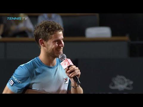 Diego Schwartzman Jokes with Crowd after Winning Rio Open Title