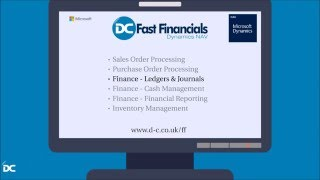 Financial Management Ledgers and Journals demo for Fast Financials Dynamics NAV ERP