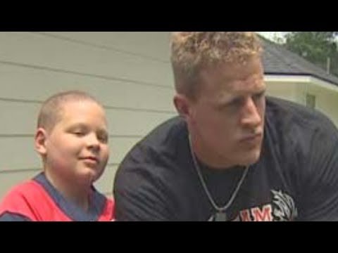 Jj Watt Visits Leukemia Patient Youtube
