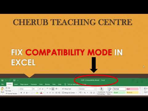 HOW TO FIX COMPATIBILITY MODE IN EXCEL-Tutorial
