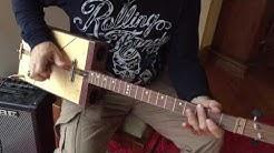 Kauri Inlay Cigarbox Guitar - Chough Guitars