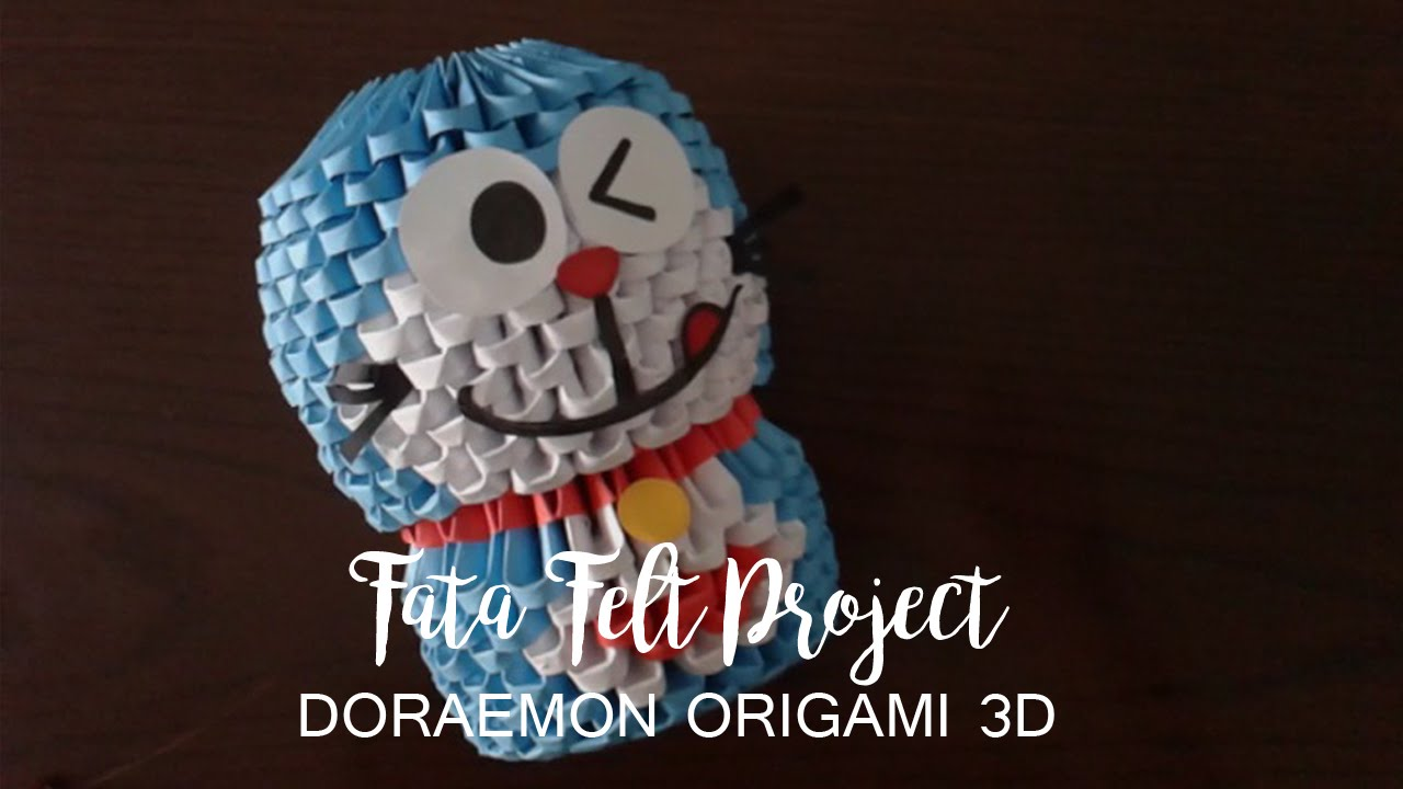 how to make doraemon origami 3d fatafeltproject youtube rh youtube com