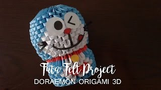 How to Make Doraemon Origami 3D -fatafeltproject