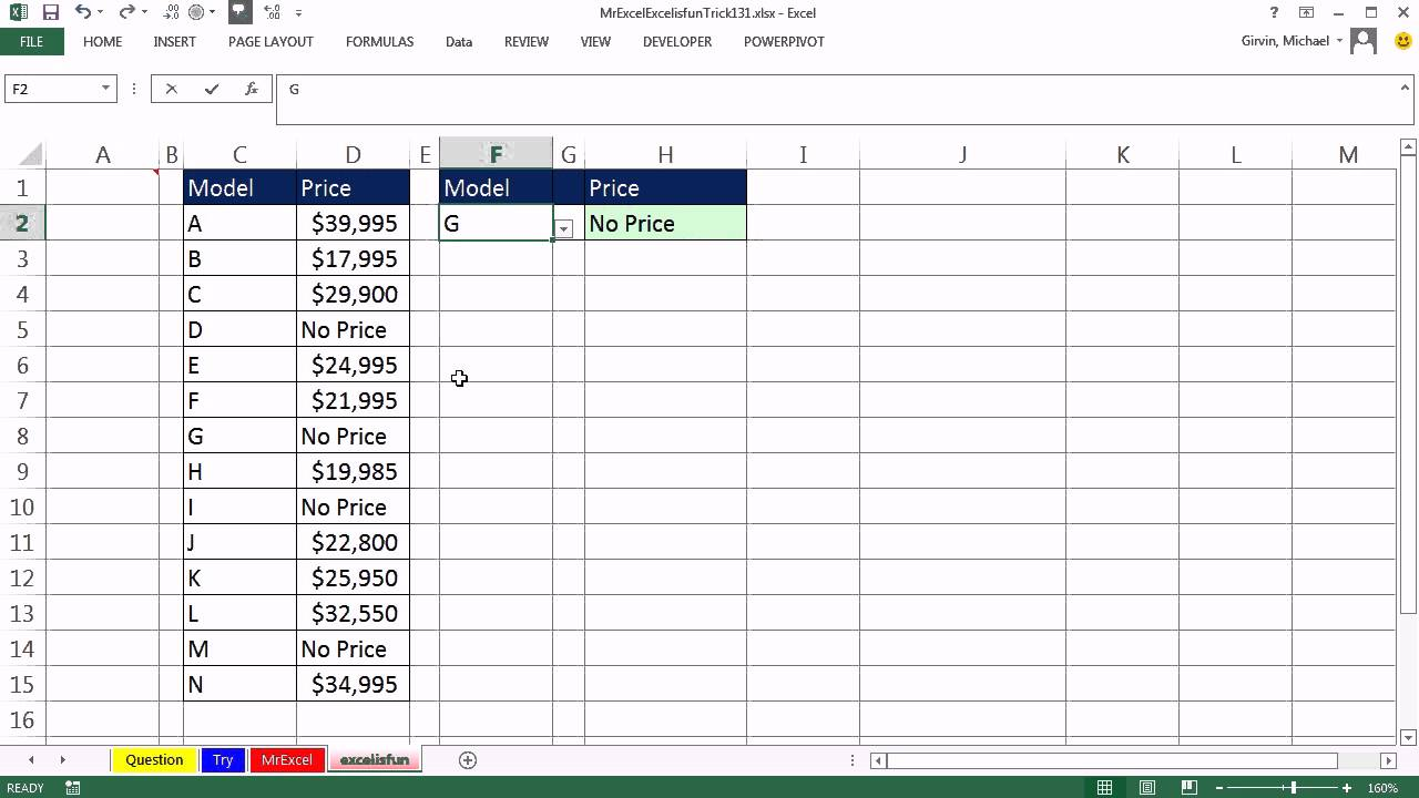 Mr Excel & excelisfun Trick 131: Prevent VLOOKUP from Returning a ...