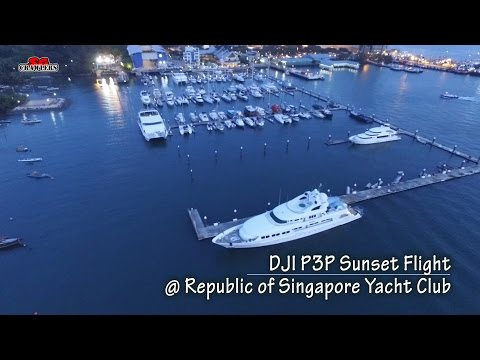 Republic of Singapore Yacht Club RSYC Aerial Videography DJI Phantom 3 Professional Sunset at sea