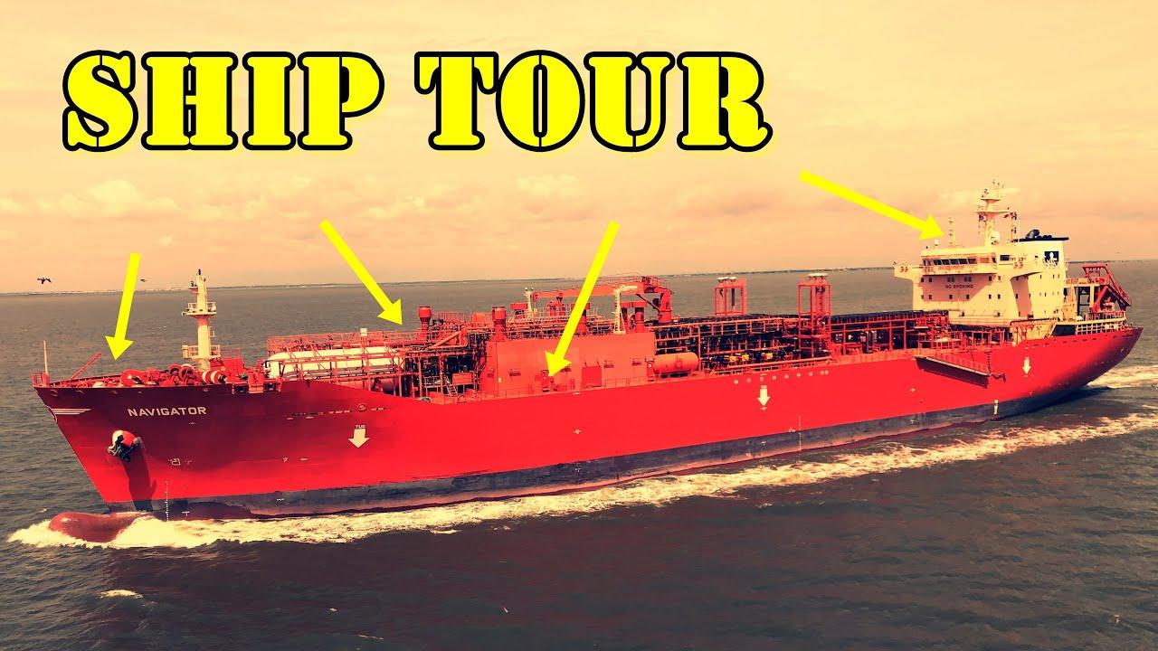 TOUR OF A SHIP - MAIN DECK - ON MERCHANT NAVY LPG TANKER