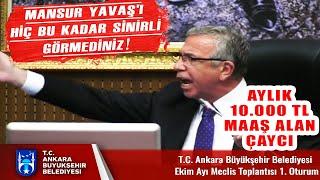 Sonunda Mansur Yavaşı da Çıldırttılar! Ankara Meclis'i Yine Karıştı