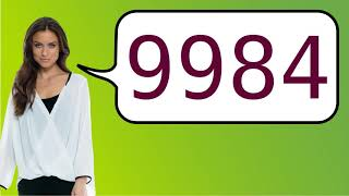How to say '9984' in French?