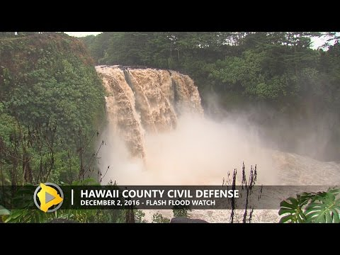 Flooding Update from Hawaii County Civil Defense (Dec. 2, 2016)