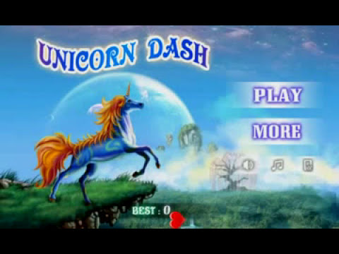 Unicorn Dash : Old Game In New Version Endless Game Tutorial September 2016