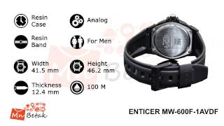 CASIO Watch ENTICER MW-600F-1AV ساعه يد رجالى كاسيو MnBetak.com Official Video