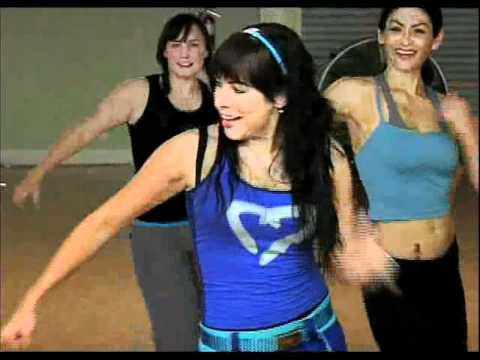 New Zumba Tv  Segment w/ Ninfa Skezas at Party Fitness Studio/ San Diego, CA