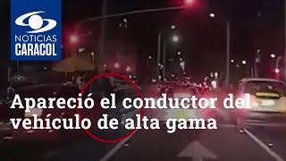 Apareció el conductor del vehículo de alta gama que arrolló a un domiciliario en Bogotá