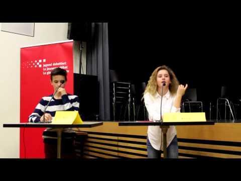 Regiocup Jugend debattiert, 12.1.2015, Kantonsschule am Burggraben: Finaldebatte Untergymnasium
