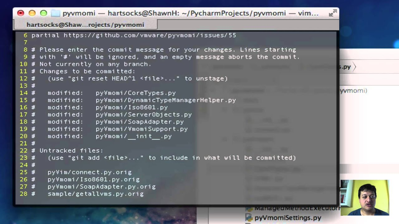 pyvmomi developer tutorials: git rebase -i