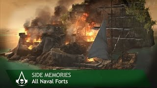 Assassin's Creed 4: Black Flag - Side Memories - All Naval Forts