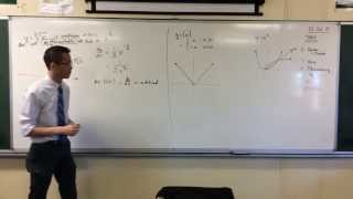 Differentiability (2 of 3: Absolute Value of x)