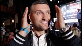 CARL FROCH REACTS TO WILDER $50M OFFER TO JOSHUA - & CONCERNED IF HAYE'S BODY WILL HOLD OUT v BELLEW
