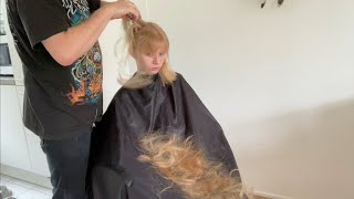Back to school haircut for a cool girl! From long hair to stylish short hair
