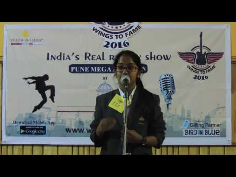 Wings To Fame Pune (MIT) Audition - 20 - 333 - Shruti Sridhar