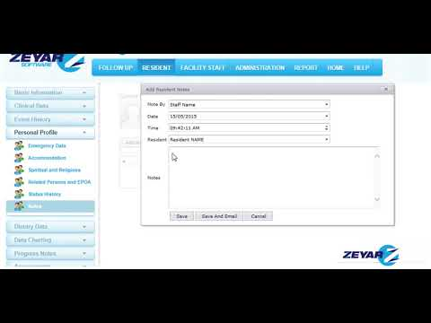 Zeyar Tutorial - Confidential Resident and Staff Notes