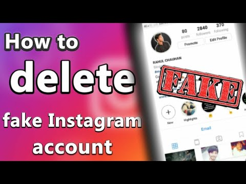 how to DELETE INSTAGRAM FAKE account permanently   100% working [ WITH PROOF]