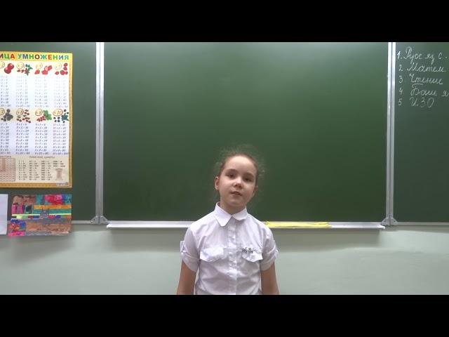 Изображение предпросмотра прочтения – ЕкатеринаБакулова читает произведение «В классе» М.И.Цветаевой
