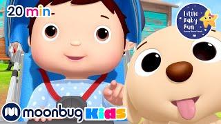 Little Baby Bum SUPER Cute ANIMALS   NEW!   BEST Video Songs For Kids   MOONBUG KIDS - Superheroes